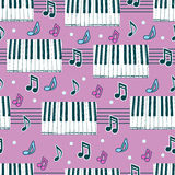 Seamless background with piano Royalty Free Stock Photography