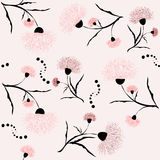 Seamless background with pink flowers for your design Royalty Free Stock Photo