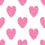 Seamless Background With Pink Hearts Royalty Free Stock Photography