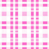 Seamless background pink of plaid pattern. Vector Royalty Free Stock Image
