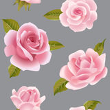 Seamless background with pink roses. Stock Photo