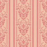 Seamless background of pink. Seamless background with stripes for design, vector Illustration stock illustration