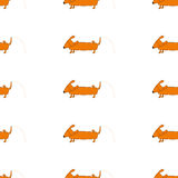 Seamless background with dog royalty free illustration