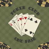 Seamless background with poker cards for Stock Images