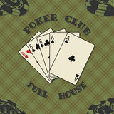 Seamless background with poker cards for Stock Image