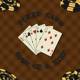 Seamless background with poker cards for Stock Photos