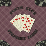 Seamless background with poker cards for Royalty Free Stock Photo