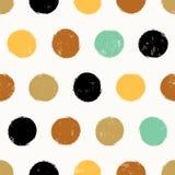 Seamless background polka dots pattern Stock Photos