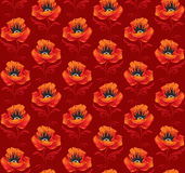 Seamless background with poppies Royalty Free Stock Photos