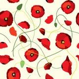 Seamless background of poppys Royalty Free Stock Photo