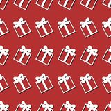 Seamless background with present box Stock Image