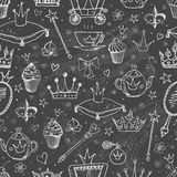Seamless background with princess accessories. Stock Images