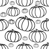Seamless background with pumpkin Stock Image