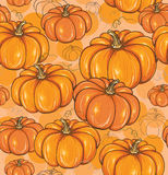 Seamless background with pumpkins Royalty Free Stock Image