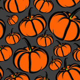 Seamless background with pumpkins Stock Photo
