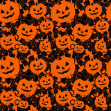 Seamless background with pumpkins Royalty Free Stock Photos