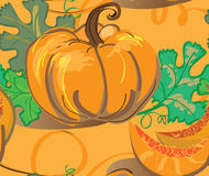 Seamless background with pumpkins Royalty Free Stock Images