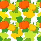Seamless background with pumpkins. Thanksgiving. Harvest festival. Royalty Free Stock Images