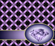 Seamless background with purple diamond Stock Photos