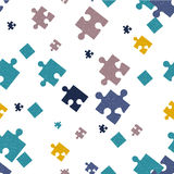 Seamless background. Puzzle. Stock Images