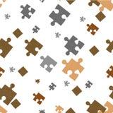 Seamless background. Puzzle. Stock Photo
