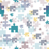 Seamless background. Puzzle. Royalty Free Stock Photo