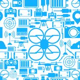 Seamless background for quadrocopter set Royalty Free Stock Photos