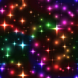 seamless background with rainbow stars and blurs Royalty Free Stock Photo