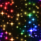 seamless background with rainbow stars and blurs Stock Photography