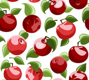 Seamless background with red apples Stock Photography