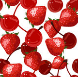 Seamless background with red berries. Stock Photography