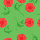Seamless background with red flowers Royalty Free Stock Photography