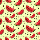 Seamless background with red fresh juicy Stock Images