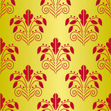 Seamless background of red and gold Royalty Free Stock Photo
