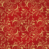Seamless background of red and gold Stock Image