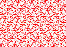 Seamless background with red hearts Royalty Free Stock Photos