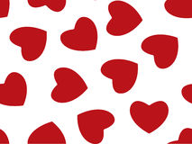 Seamless background of red hearts on white Royalty Free Stock Photography