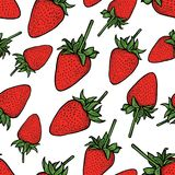 Vector pattern of ripe strawberry Stock Photography