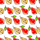 Seamless background with red pears Stock Photography