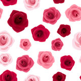 Seamless background with red and pink roses. Seamless background with red and pink roses on a white background Royalty Free Stock Photo
