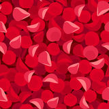 Seamless background with red rose petals. Vector illustration. Stock Image