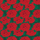 Seamless background. Red roses. Stock Photography