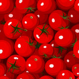Seamless background with red tomatoes. Royalty Free Stock Photo