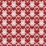 Seamless background Red Valentine's day Royalty Free Stock Photos