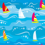 Seamless Background - Regatta Royalty Free Stock Photo