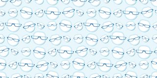 Male glasses seamless background pattern Stock Photo