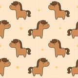 Cute horse Seamless Pattern Background vector illustration