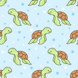 Cute turtle Seamless Pattern Background royalty free illustration