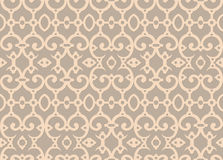 Seamless background with retro pattern. Vector illustration. Beige background.Vintage card  on seamless wallpaper Stock Photo