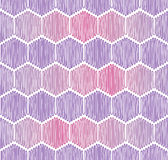 Seamless background with rope hexagons Stock Image